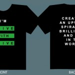 "The now famous ""I'm Alive with Clive"" T-shirt"