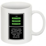 "The ""I'm Alive with Clive"" Mug -- Logo Vertical with Border"