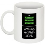 "The ""I'm Alive with Clive "" Mug -- Logo Vertical, No Border"