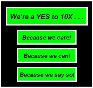 YESto10XSlogan