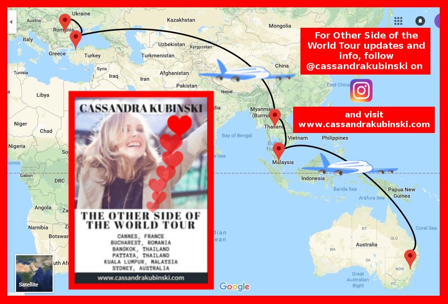 Cassandra Kubinski, Other Side of the World Tour - Southeast Asia