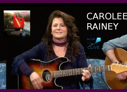 Carolee Reiney with her EP, Feel Fearless, on Alive with Clive