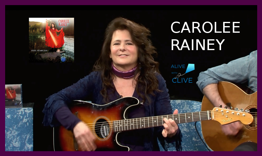 Carolee Rainey with her EP, Feel Fearless, on Alive with Clive