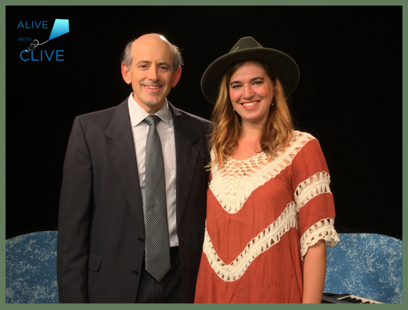 Clive Swersky with Kate Mills on Alive with Clive