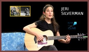 Jeri Silverman on Alive with Clive with record covers