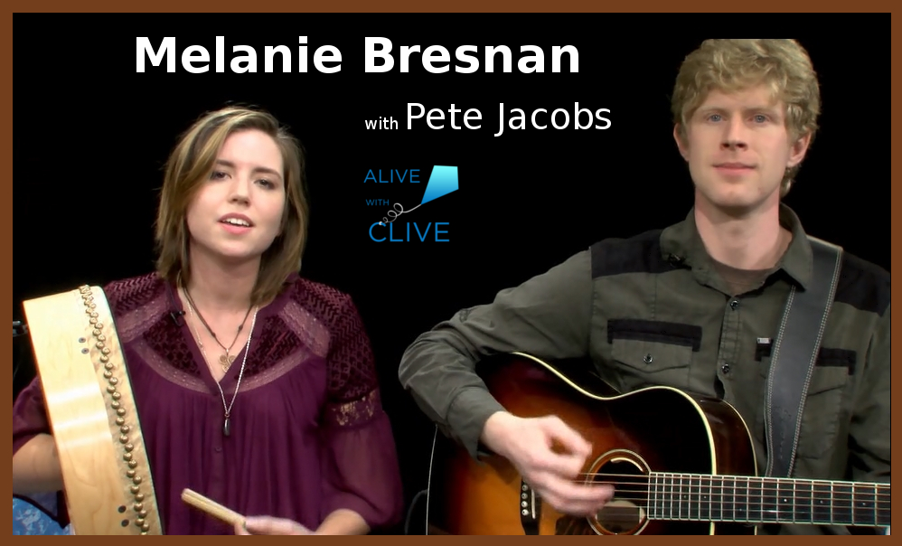 Melanie Bresnan with Pete Jacobs on Alive with Clive