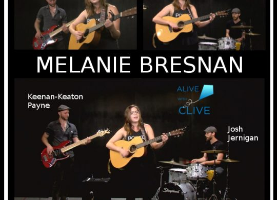 Melanie Bresnan with Keenan-Keaton Payne and Josh Jernigan on Alive with Clive