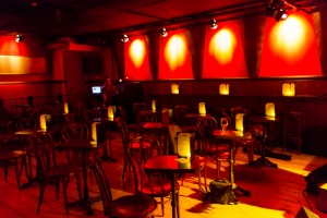 The intimate seating area of Stage 3 at the Rockwood Music Hall