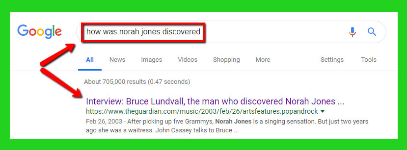 how was norah jones discovered