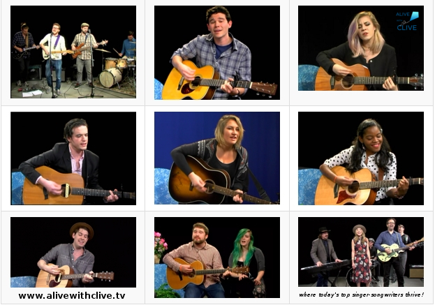 Singer-Songwriters on Alive with Clive in 2016 -- 1st 9 of 27