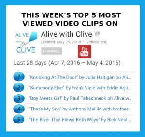 This Week's Top 5 Alive with Clive YouTube Clips -- May 6, 2016