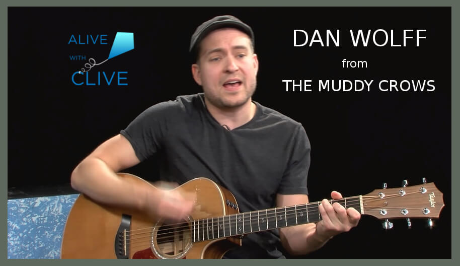 Singer-songwriter, Dan Wolff from The Muddy Crows