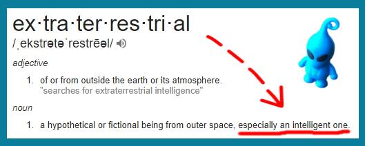Extraterrestrial - definition