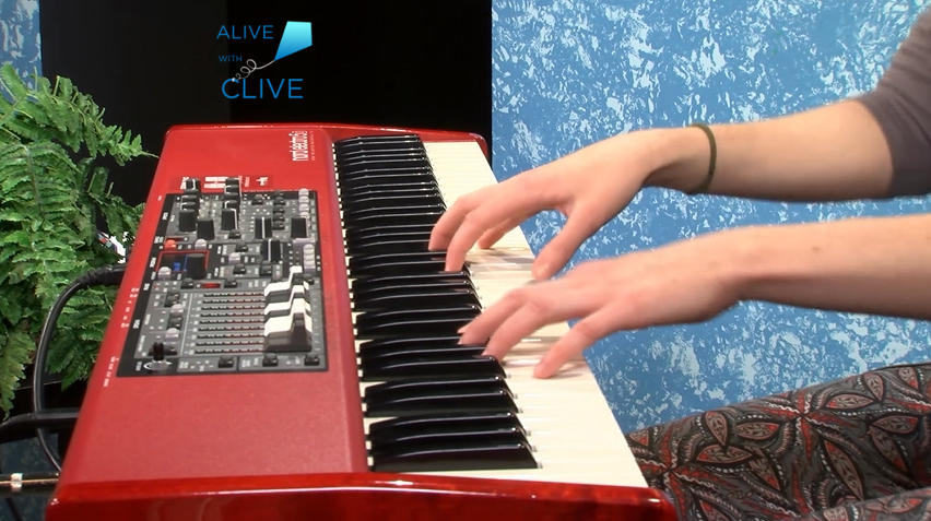 Seann Cantatore on Keyboard on Alive with Clive