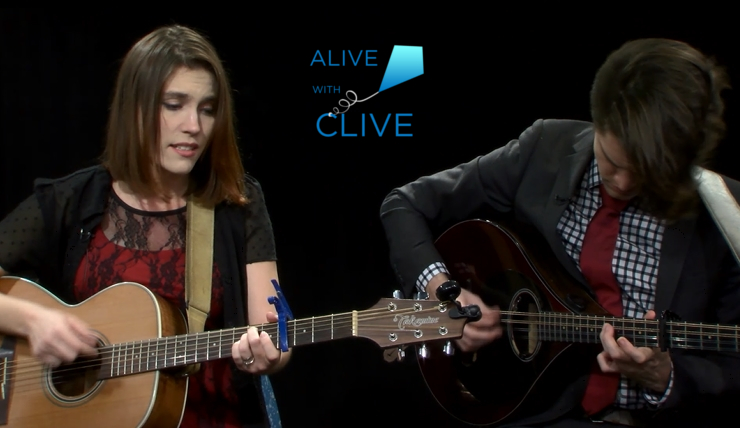 Katie Garringer with Mike O'Malley, 1st of 2 Shows on Alive with Clive