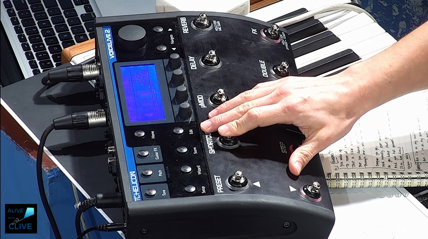 Lia Menaker using TC Helicon Voice Loop Pedal