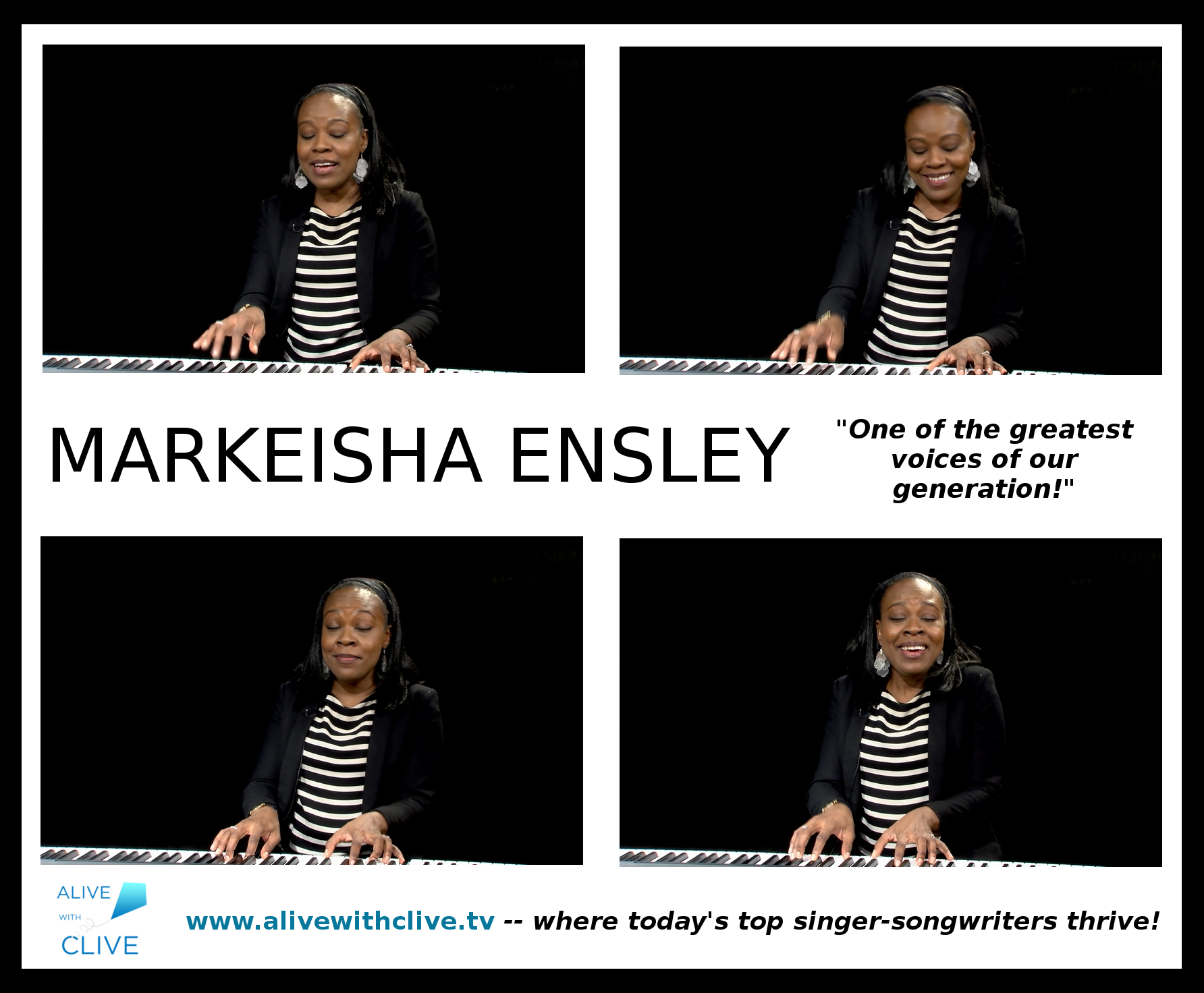 Markeisha Ensley in her 4th of 4 Shows on Alive with Clive