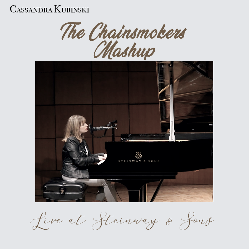 Cassandra Kubinski performing The Chainsmokers mashup at Steinway NYC