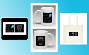 Alive with Clive Mousepad, Mug and Tote Bag