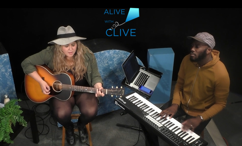 Tatiana Lima with Gary Coach on Alive with Clive, 2nd Show